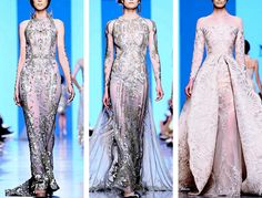 """queenbakkoush:  """""""" An Infinite List of Favorite Collections - Michael Cinco F/W 2017 Haute Couture  """" """"  love the blues in this collection!"""