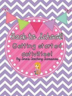 First Week of Back To School fun! Activities and Craftivities for the first week back and more! Read alouds, getting to know you, class book templates! Beat that busy week with a little help from Tina's Teaching Treasures! $