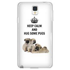 Keep Calm and Hug Some Pugs Phone Case