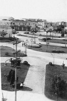 1955 - Praça Sílvio Romero, no bairro do Tatuapé.