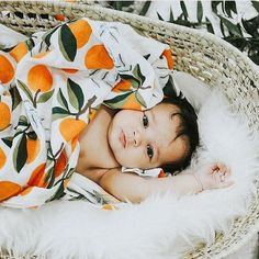Clementine Muslin Swaddles for my future baby! & a cute little head wrap! Cute Baby Sleeping, Baby Orange, Baby Hazel, Baby Hug, Baby Cooking, Baby Momma, Baby Swaddle Blankets, Boy Pictures, Baby Sprinkle