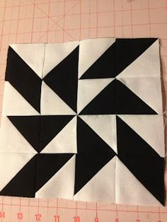 knit 'n lit: Modern Half-Square Triangle Quilt-a-Long Block 5