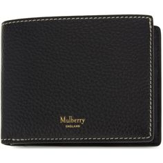 MULBERRY Classic grained leather wallet ($225) ❤ liked on Polyvore featuring men's fashion, men's bags, men's wallets and mulberry mens wallet