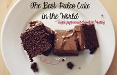 The Best Paleo Chocolate Cake in the World! with Maple Peppermint Chocolate Frosting #paleo