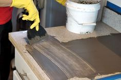 applying concrete to countertops