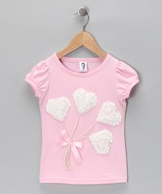 2 Crystal Chicks  Pink & White Hearts Tee