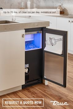 Don't let impure water ruin your beverages. Up to 70 pounds of clear ice per day, both indoors and out, is the perfect counterpart to your favorite cocktail (or mocktail) recipe. Request your quote now. Kitchen Inspirations, Kitchen Redo, House Plans, Home Kitchens, Home, Kitchen Design, Outdoor Kitchen, Kitchen Remodel, Clear Ice Machine