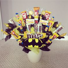 Batman candy bouquet