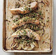 Roasted Salmon & Fennel with Pistachio Gremolata