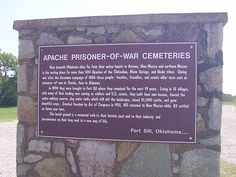 Apache Prisoner-of- war Cemeteries - Fort Sill, OK by carletaorg, via Flickr