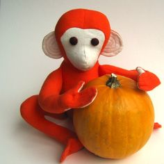 organic toy stuffed animal monkey for baby and children
