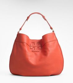 Hobo bag in coral - yellow or green would be pretty too