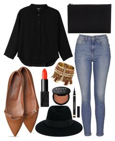 """Untitled #608"" by daimy-style ❤ liked on Polyvore featuring Monki, Topshop, Alexander Wang, Maison Michel, Yves Saint Laurent, NARS Cosmetics and NYX"