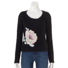 LC Lauren Conrad Intarsia Eyelash Sweater - Women's