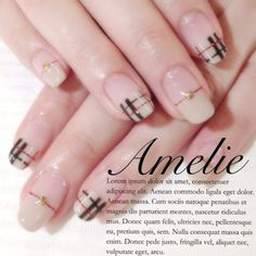 Pin on Nails Cute Nails, Pretty Nails, My Nails, Plaid Nail Designs, Nail Art Designs, Work Appropriate Nails, Nail Atelier, Plaid Nails, Exotic Nails