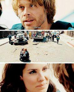 "NCIS LA S8 E24 - : ""You know me. I'm more bang than bling"". ""That's right. Sunshine and gunpowder"""