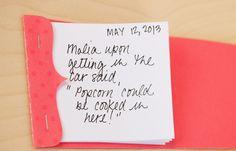 Fun matchbook notepad