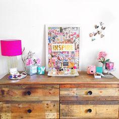 Imagen vía We Heart It #closet #decor #diy #inspire #perfume #polaroid #room #tumblr #popofcolor #cute