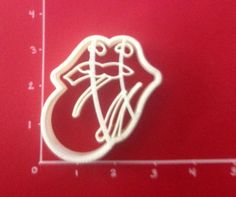 Rolling Stones Cookie Cutter Mouth with Tongue by CutterShop, $6.00