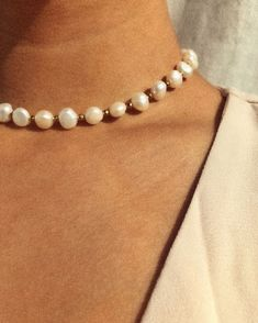 """@empejewelry on Instagram: """"Details✨ Freshwater pearls choker with golden hematite beads #empejewelry#custom#pearls"""" Pearl Choker, Pearl Necklace, Fresh Water, Helmet, Chokers, Pearls, Detail, Instagram, Jewelry"""
