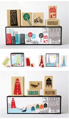 unique stamp sets and packaging from a San Francisco-based company, Yellow Owl Workshop.