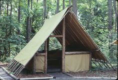 Tent Building- A-Frame Tent: Another favorite tent to build is the A-Frame.
