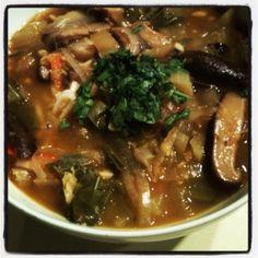 Thai Noodle Soup from our November VegCookbook, Forks Over Knives