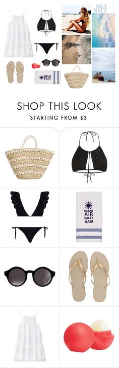 """Beach Day (Brasil)"" by jullia-raquel ❤ liked on Polyvore featuring La Perla, Zimmermann, Avanti, Havaianas and Eos"