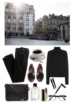 """""""The city"""" by sweetlikecinnamonnn ❤ liked on Polyvore featuring J.Crew, Rachel Comey, Calvin Klein Collection, Caffé, Sophie Hulme, Chanel and Montblanc"""
