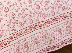 Luxury Bedspreads - Pink Queen Sheets - Hand Block Printed from Attiser Pink Bed Sheets, Pink Bedding Set, Queen Bed Sheets, King Size Bed Sheets, Floral Bedding, Cotton Sheets, Cotton Sheet Sets, Block Printing Designs, Luxury Bedspreads