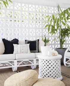 Smart Ways to Use Breeze Block Wall Design in Your Home - Architecturehd Outdoor Rooms, Outdoor Living, Outdoor Furniture, Outdoor Patios, Outdoor Kitchens, Outdoor Areas, Garden Furniture, Furniture Ideas, Indoor Outdoor