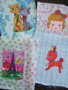 Nathalie Lete fabric transfers