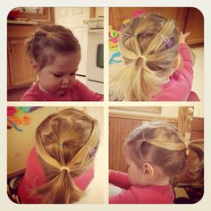 Quick toddler girl multi-pony for keeping all those little pieces and different lengths back!