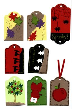 Scrapbook tags with Creative Memories shape makers and punches