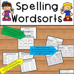 Journeys First Grade Spelling and Word Sorts Differentiated Entire Year! First Grade Spelling, Spelling Lists, Spelling Activities, Literacy Activities, Literacy Centers, Summer Activities, Reading Resources, Classroom Resources, Math Resources