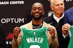 """Kemba Walker revealed that former Boston Celtics forward Antoine Walker gave him """"the blessing"""" to rock his old jersey. John Havlicek, Bob Cousy, Fiba Basketball, Basketball Leagues, Madison Square Garden, Larry Bird, Detroit Pistons, New York Knicks, Boston Celtics"""