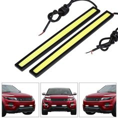 2 pz/lotto Ultra Luminoso 14 cm Car styling Daytime Running light 100% Impermeabile COB Luci diurne A LED Auto DRL lampada di guida