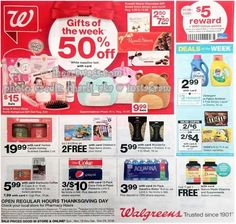 Walgreens Black Friday 2018 Ads and Deals Browse the Walgreens Black Friday 2018 ad scan and the complete product by product sales listing. Friday News, Black Friday Ads, Wonderful Pistachios, Photo Cards, Walgreens Coupons, Health And Wellness, Health Fitness