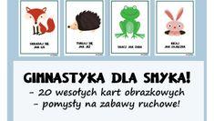 Zabawy ruchowe i gimnastyczne dla przedszkolaków - Pani Monia Mario