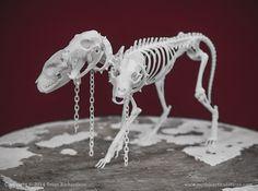 Cerberus Skeleton 3d printed