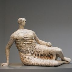 """Henry Moore ... Sculpture... this is currently on permanent display at the AGO Toronto and it's impressive up close!!! """"Draped Reclining Woman"""" 1957-58... original plaster"""