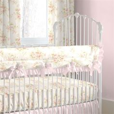 Shabby Chenille Designer Collection of Baby Girl Crib Bedding by Carousel Designs.