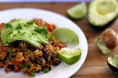 This Mexican rice is rich in flavour and contains black beans, brussel sprouts and avocado. It is such a delicious and healthy meal!