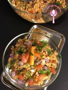 Zöldséges bulgur saláta – Sylvia Gasztro Angyal Vegan Vegetarian, Vegetarian Recipes, Paleo, Cooking Recipes, Healthy Recipes, No Cook Meals, Healthy Living, Salads, Food And Drink