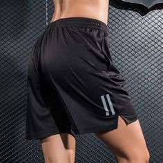 Black Mens/Women Sports professional Running reflective Shorts Training Soccer Tennis Workout GYM Shorts Quick Dry breathable #tennisworkout