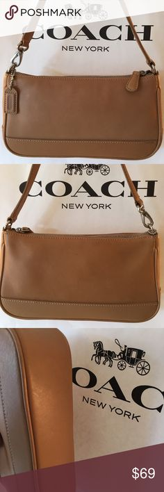 ⭐️COACH VINTAGE BAG 💯 AUTHENTIC COACH VINTAGE BAG 100% AUTHENTIC. SO STYISH AND TOTALLY ON TREND. VINTAGE COACH BAGS ARE A HOT FASHION STATEMENT. PERFECT BAG FOR THE WOMAN ON THE GO. THE BAG MEASURES 9 INCHES WIDE BY 5 INCHES TALL . THE STRAP HAS A 7 INCH DROP Coach Bags