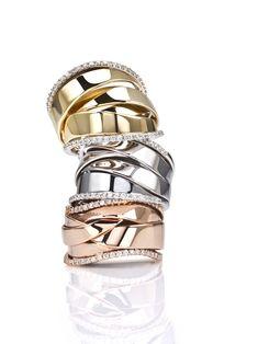 Claire/'s Girl/'s Gold Interlocking Hoop Earrings en or.