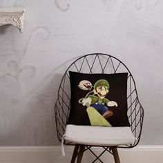 Luigi's Mansion Pillow Luigi's Mansion, Afternoon Nap, Pillow Fight, Hanging Chair, Mansions, Pillows, Furniture, Home Decor, Hammock Chair