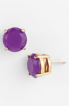 colored stone stud earrings