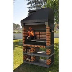 Callow Pan American Brick Masonry BBQ Grill - The Ultimate in Wood fired BBQ Grilling Barbecue Grill, Design Barbecue, Grill Design, Grilling, Masonry Bbq, Brick Masonry, Bbq World, Parrilla Exterior, Brick Grill